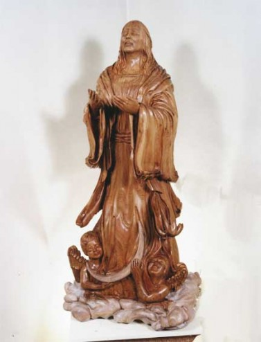 "Butternut sculpture ""Our Lady of Assumption"" Saint John N.B."