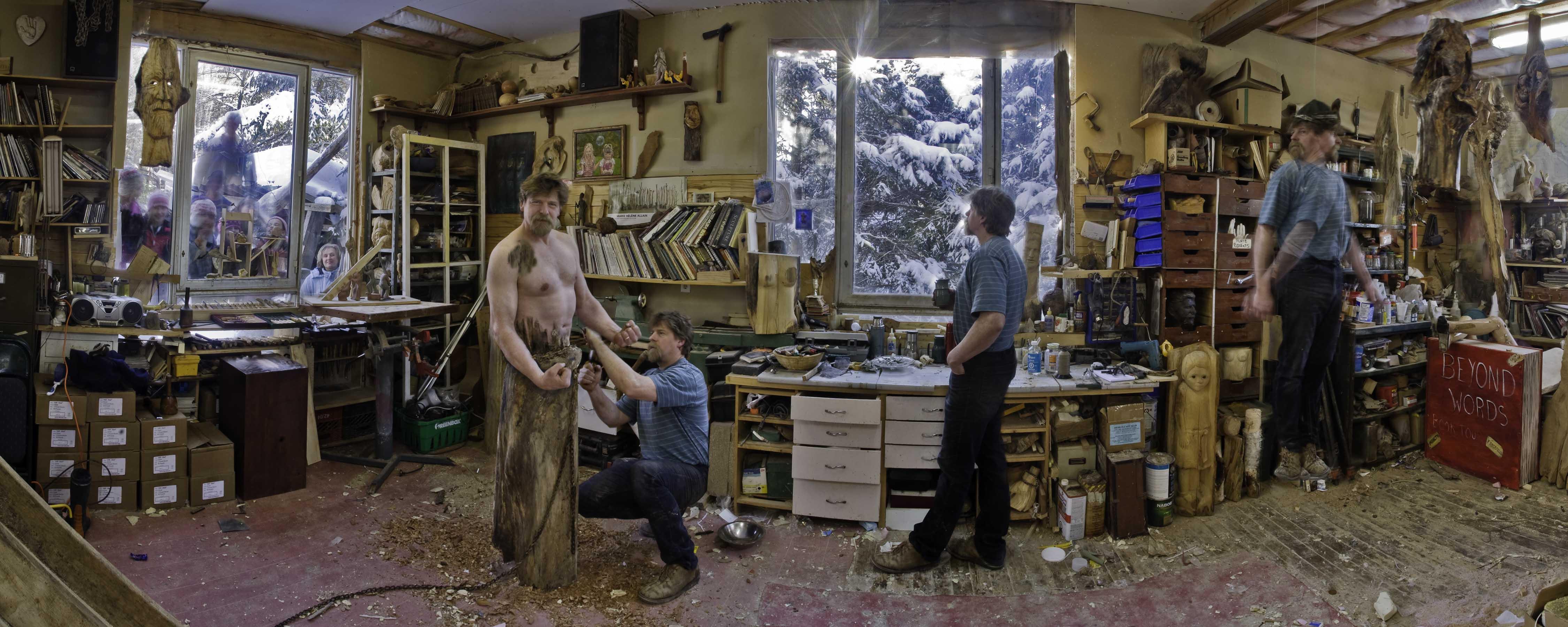 Darren Byers in the studio Photo taken by Greg Klassen