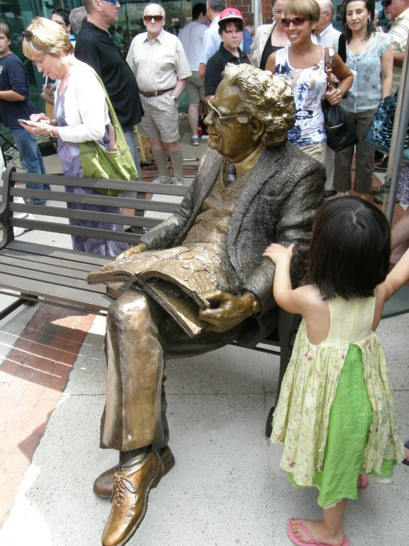 unveiling Northrop Frye photo by Peter Thomas