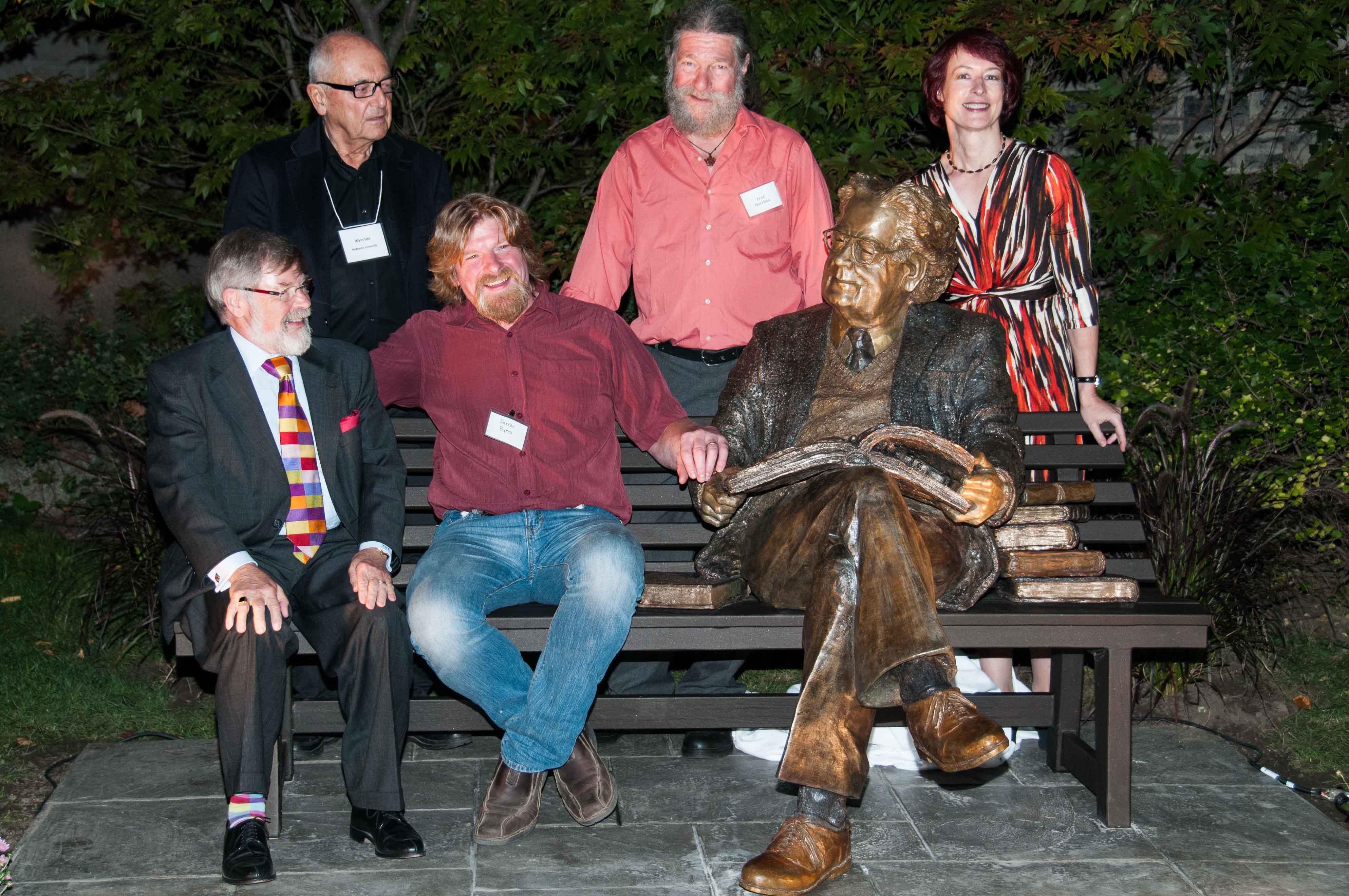 Northrop Frye Sculpture, (bronze) unveiling Victoria University Toronto