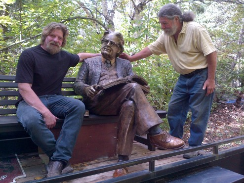 Northrop Frye Sculpture, (bronze) Darren Byers & Fred Harrison